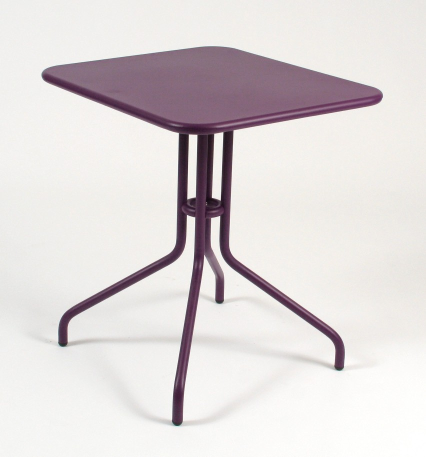 Table rabattable p tale de fermob 60 cm aubergine for Table rabattable