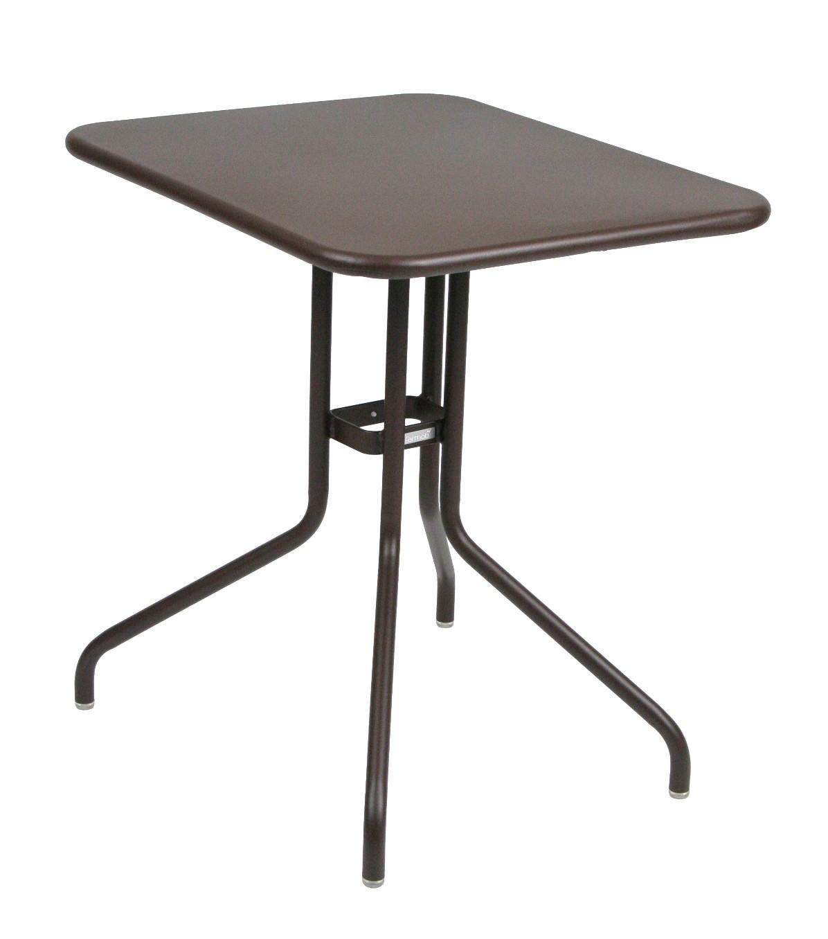 Table rabattable p tale de fermob 60 cm rouille for Table haute rabattable
