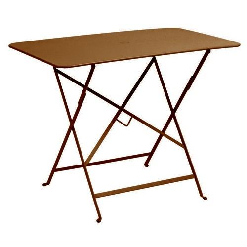 table rectangulaire 97 x 57 cm bistro de fermob rouille. Black Bedroom Furniture Sets. Home Design Ideas
