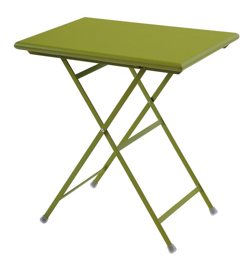 Table rectangulaire arc en ciel de emu 2 tailles 8 coloris - Table de jardin plastique vert saint paul ...