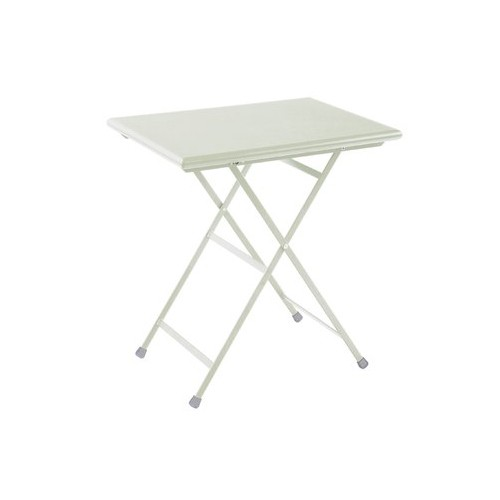 Table rectangulaire arc en ciel de emu 70 cm blanc mat for Table blanc mat