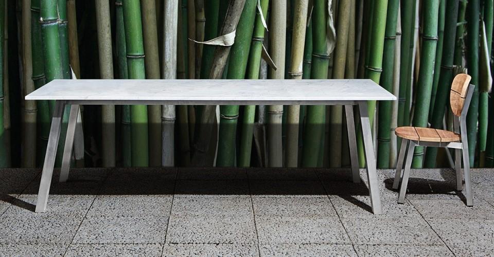 Rectangulaire Inout Blanc Table GervasoniL180Plateau Marbre De nOk80wXP