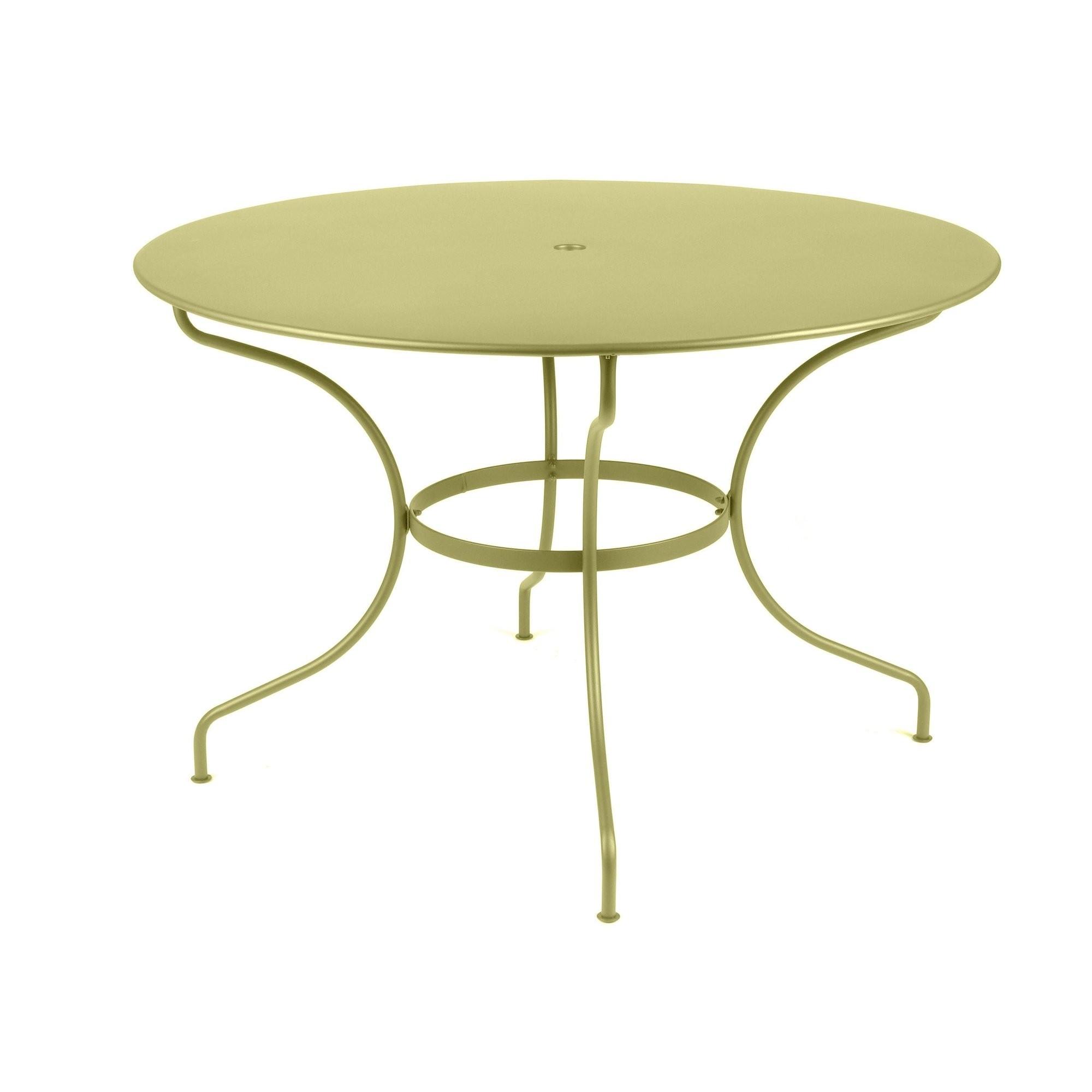 Table ronde op ra de fermob tilleul - Fermob opera table ...