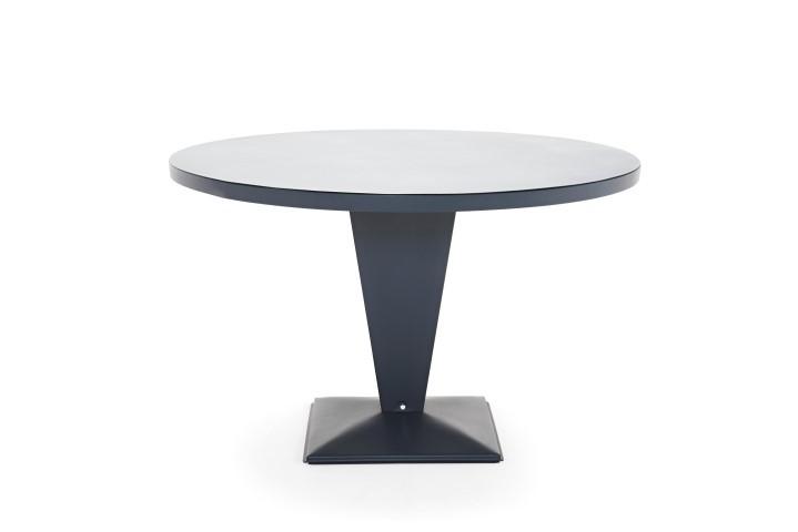 Table Ronde 110 Cm.Table Ronde Kub De Tolix Bleu Nuit 110 Cm