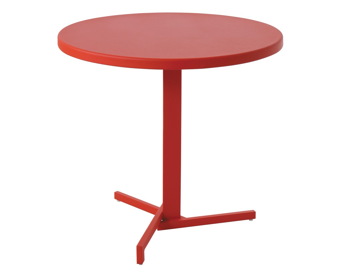 Table ronde mia de emu rouge carlate for Table ronde 6 places