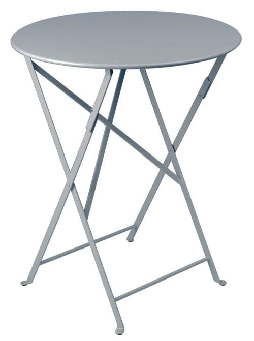 fermob table ronde pliante bistro de fermob x cm gris orage. Black Bedroom Furniture Sets. Home Design Ideas