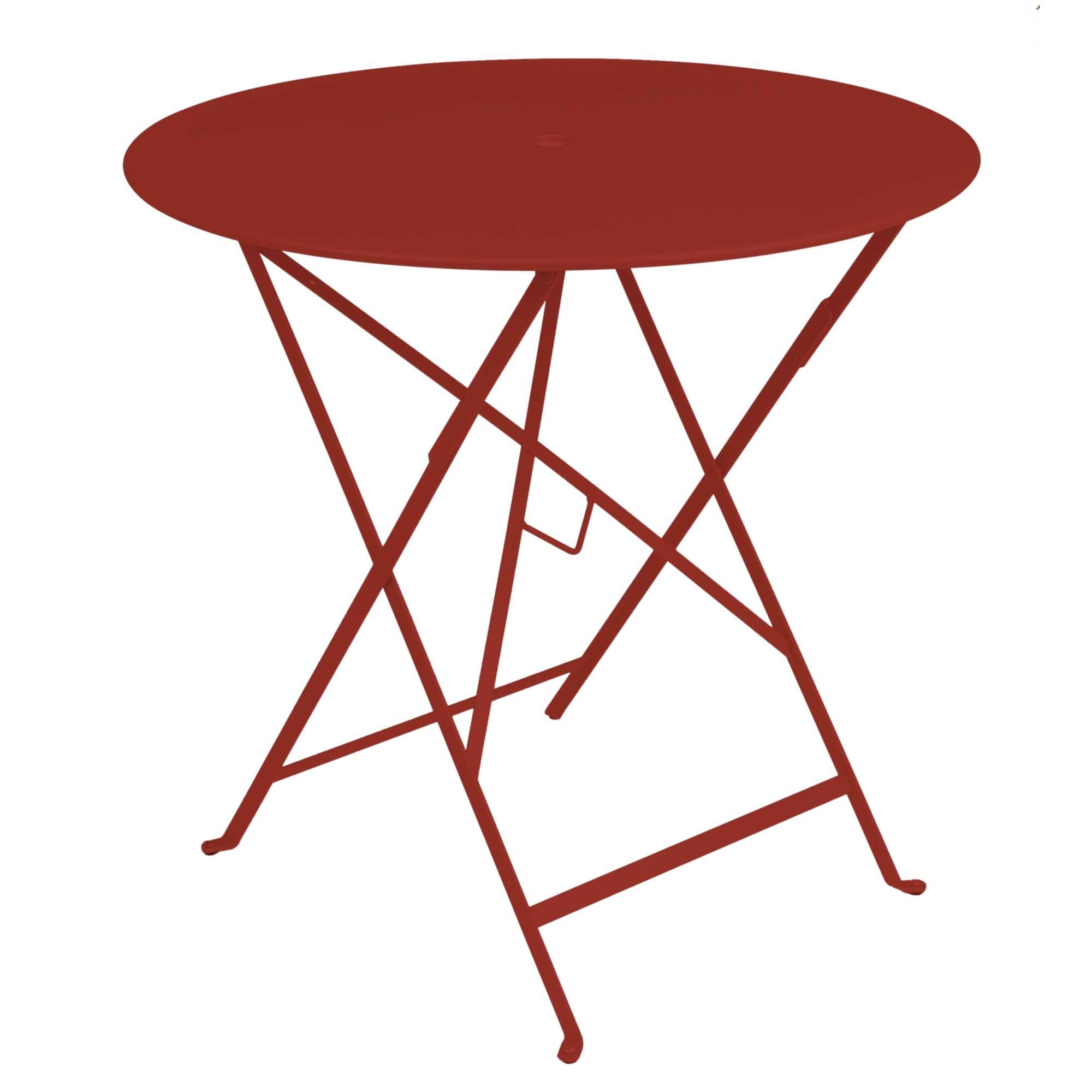 fermob table ronde pliante bistro de fermob x cm piment. Black Bedroom Furniture Sets. Home Design Ideas