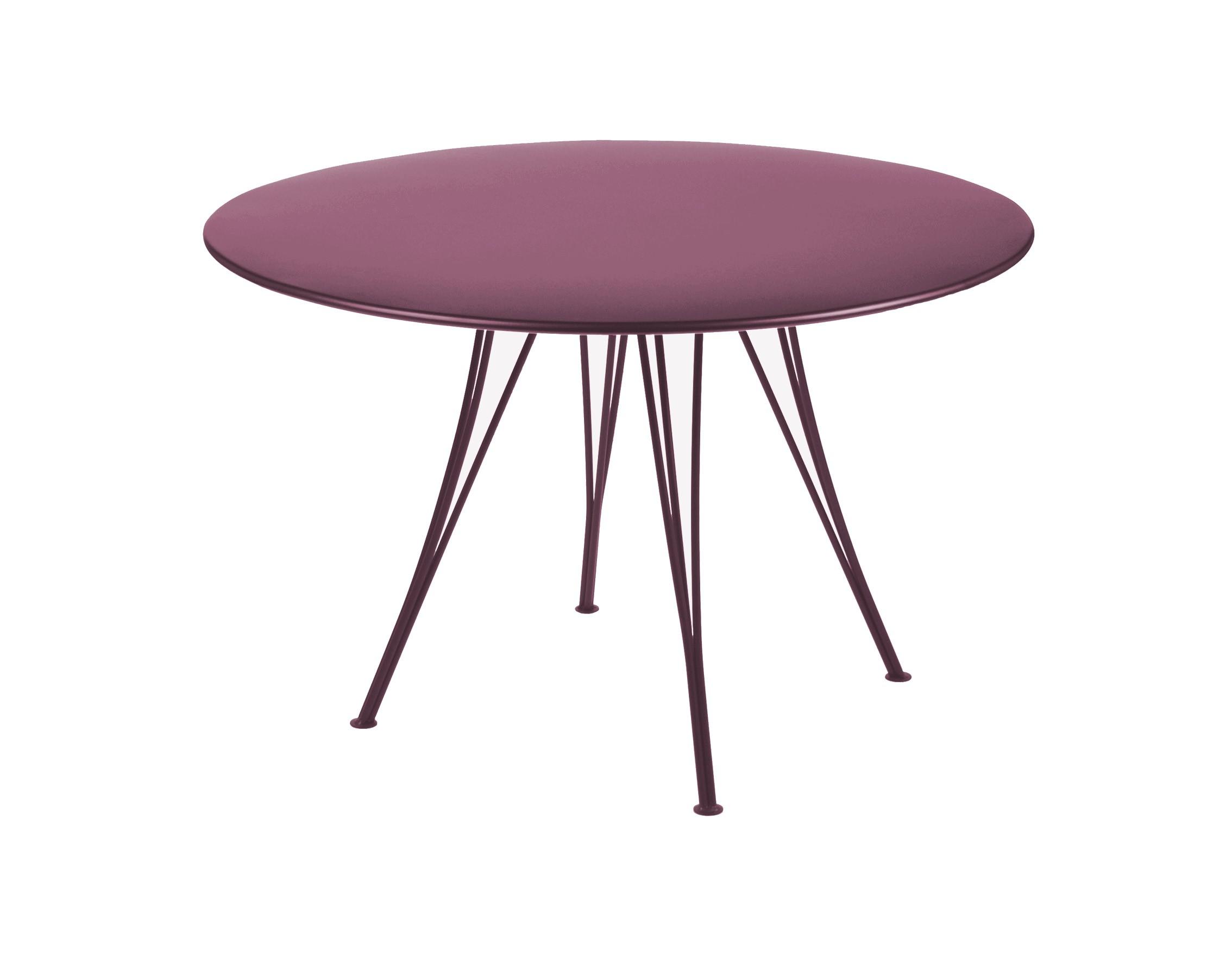 table ronde rendez vous de fermob aubergine. Black Bedroom Furniture Sets. Home Design Ideas