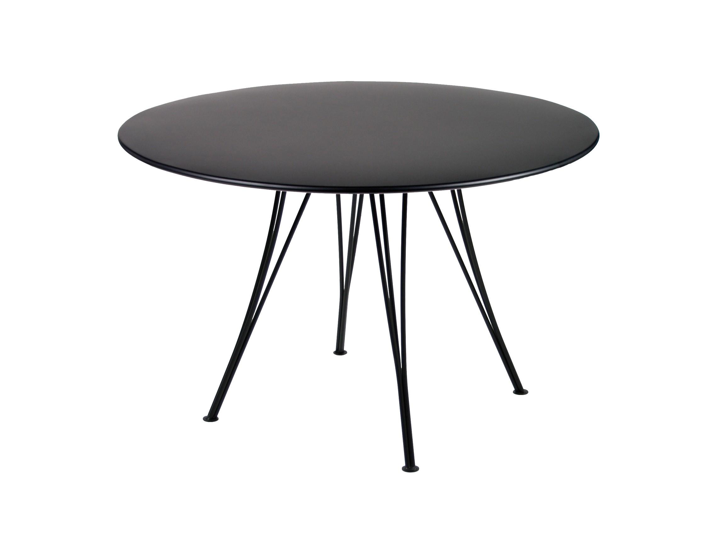 table ronde rendez vous de fermob noir r glisse. Black Bedroom Furniture Sets. Home Design Ideas