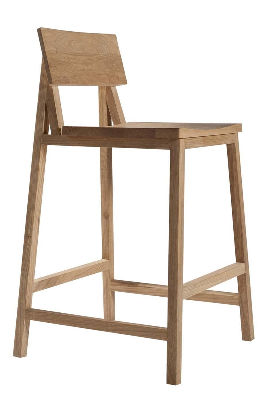 tabouret de bar n en ch ne d 39 ethnicraft. Black Bedroom Furniture Sets. Home Design Ideas