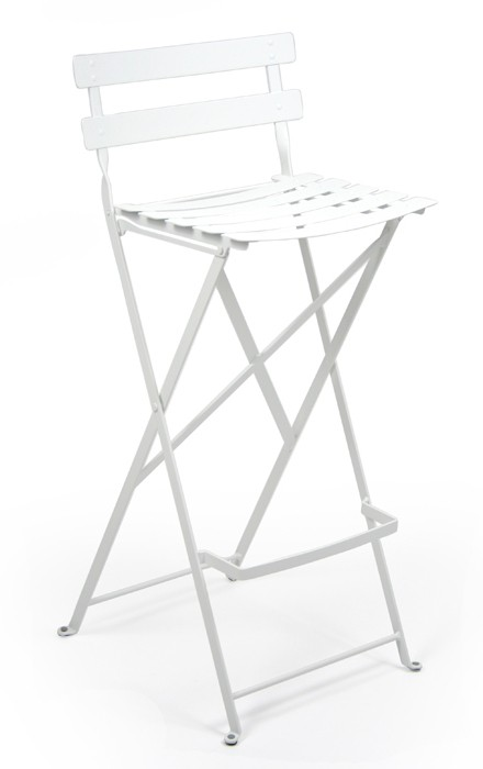 tabouret haut bistro de fermob blanc coton. Black Bedroom Furniture Sets. Home Design Ideas