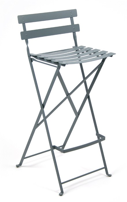 tabouret haut bistro de fermob gris orage. Black Bedroom Furniture Sets. Home Design Ideas