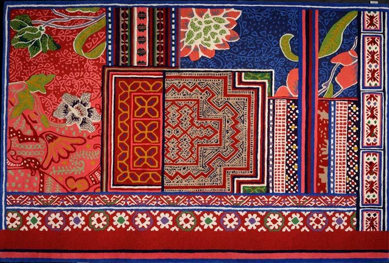 toulemonde bochart tapis toulemonde bochart baya 170 x 240 multi rouge. Black Bedroom Furniture Sets. Home Design Ideas