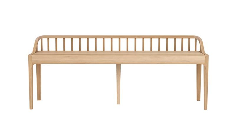 banc en ch ne spindle d 39 ethnicraft 150 cm. Black Bedroom Furniture Sets. Home Design Ideas