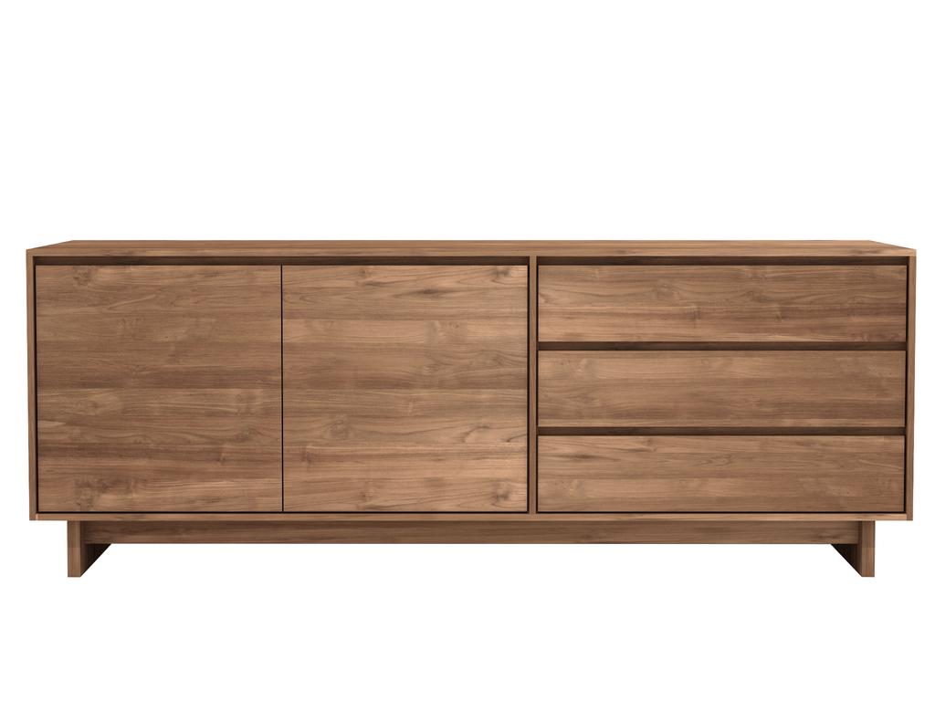 buffet wave en teck d 39 ethnicraft. Black Bedroom Furniture Sets. Home Design Ideas