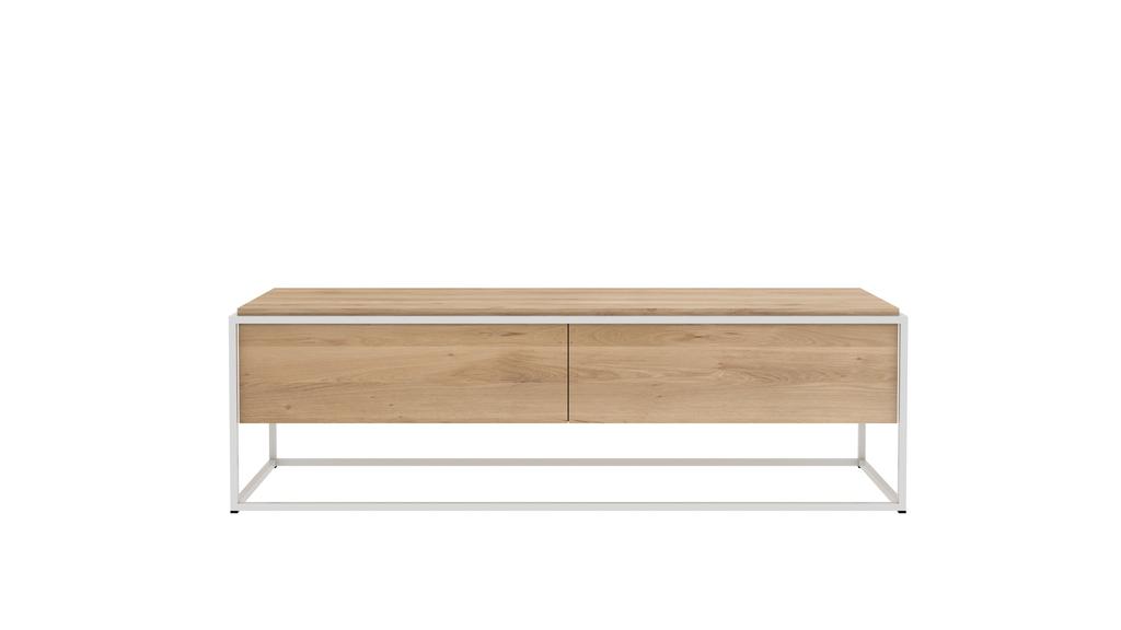 meuble tv monolit d 39 ethnicraft blanc. Black Bedroom Furniture Sets. Home Design Ideas