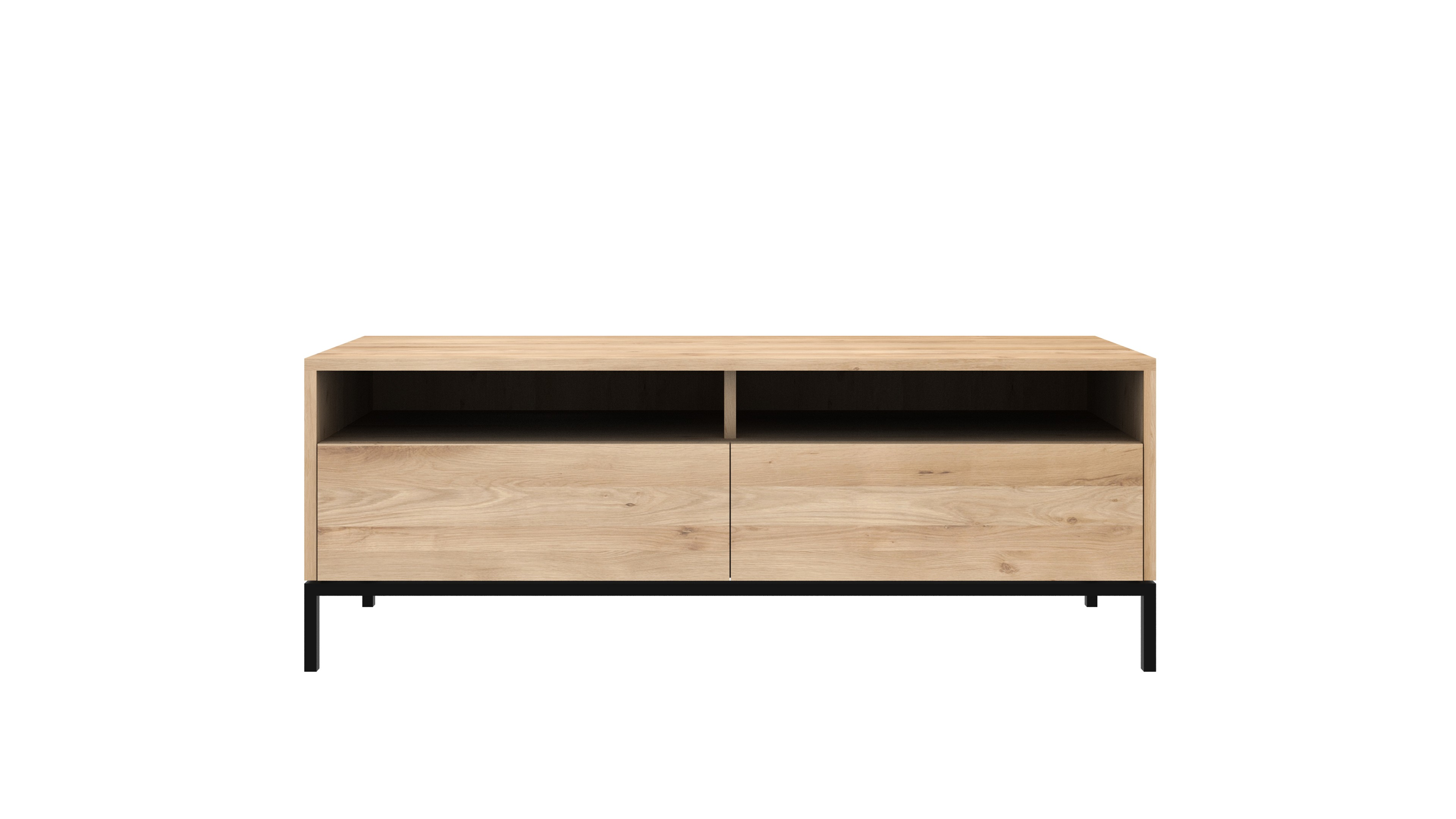 Meuble tv oak ligna ligna black d 39 ethnicraft 2 options for Meuble tv grande taille