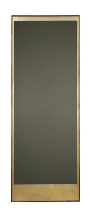 Miroir Mural Rectangulaire 198x76 Gold Leaf Avec Cadre En Bois De