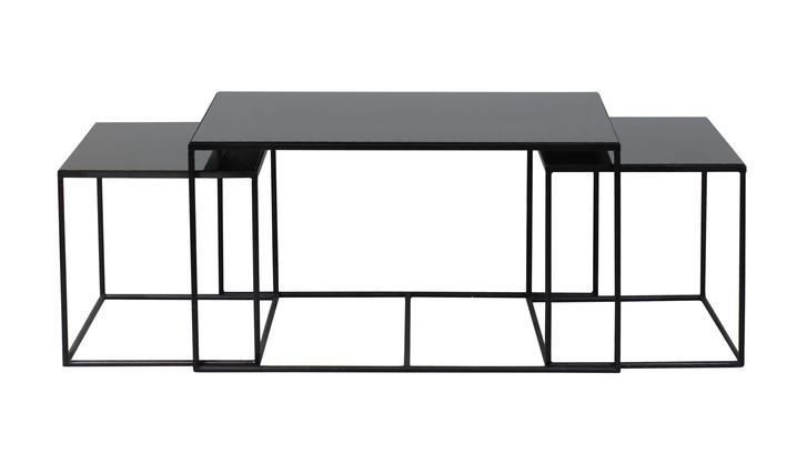set de 3 tables basses rectangle nesting coffee de notre monde. Black Bedroom Furniture Sets. Home Design Ideas