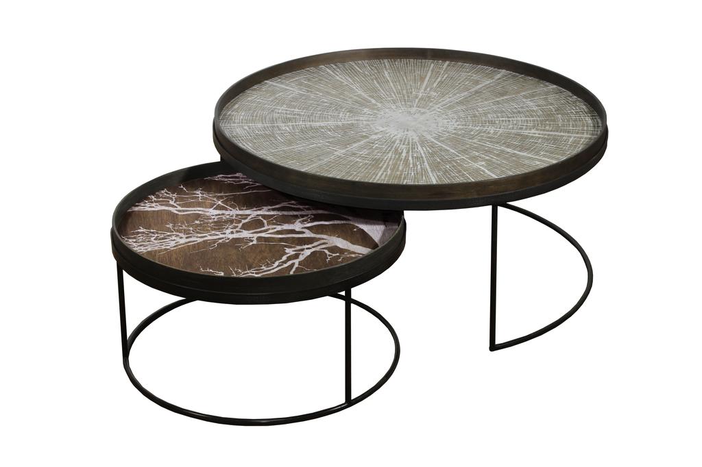 set round tray tables basses extra large de notre monde. Black Bedroom Furniture Sets. Home Design Ideas