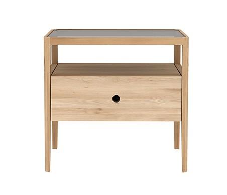 table de chevet spindle d 39 ethnicraft ch ne. Black Bedroom Furniture Sets. Home Design Ideas