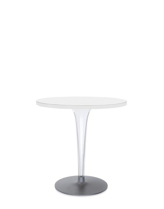 table ronde top top de kartell avec base ronde 2 tailles 3 coloris. Black Bedroom Furniture Sets. Home Design Ideas