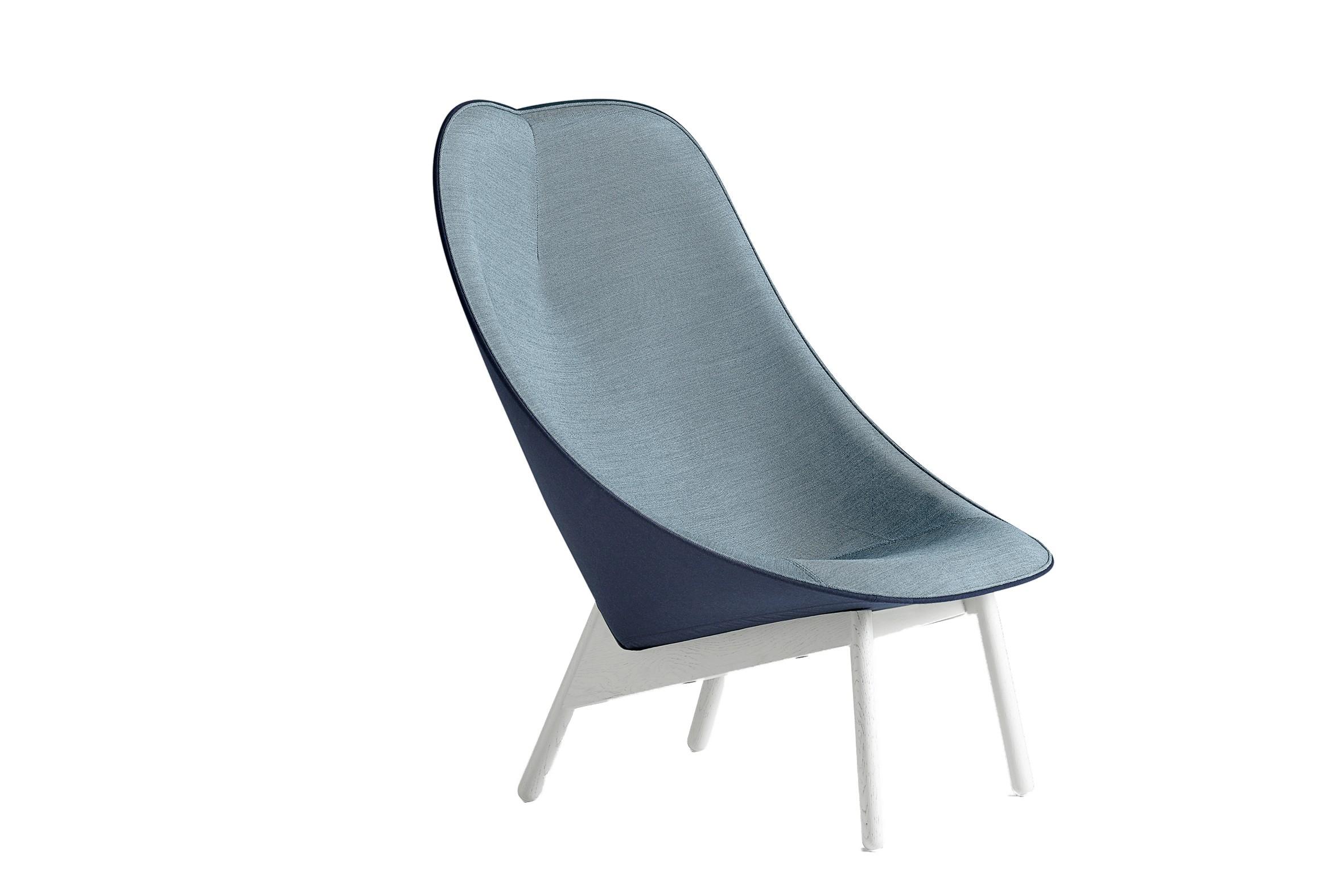 fauteuil lounge uchiwa de hay avec pi tement en ch ne teint gris 4 coloris. Black Bedroom Furniture Sets. Home Design Ideas