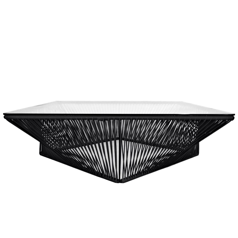 mode designer c4c5d 8ee1b Table basse carrée VERACRUZ de Boqa, 100 x 100, Noir d'aniline