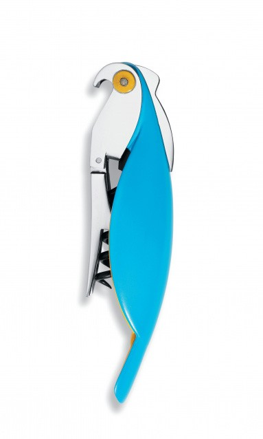 tire bouchon sommelier parrot de alessi bleu clair. Black Bedroom Furniture Sets. Home Design Ideas