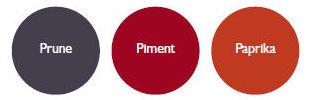 Nuancier fermob - Association couleur rouge ...